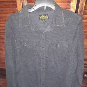 True religion corduroy long sleeve button up